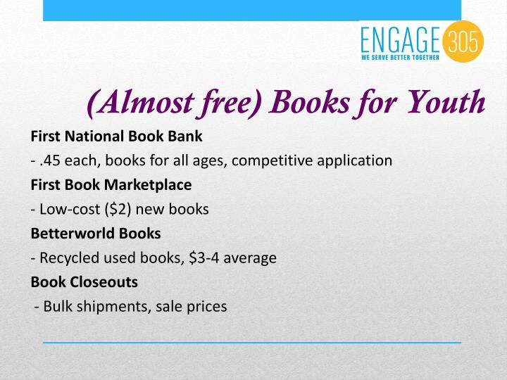 (Almost free) Books for Youth