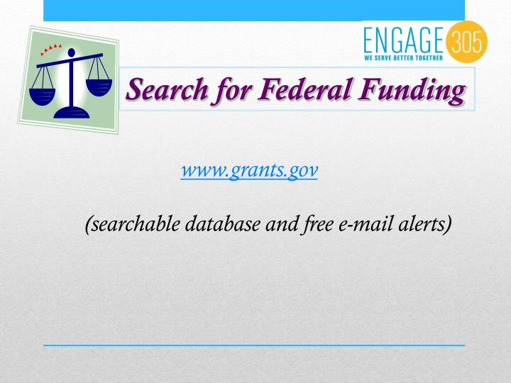 Search for Federal Funding