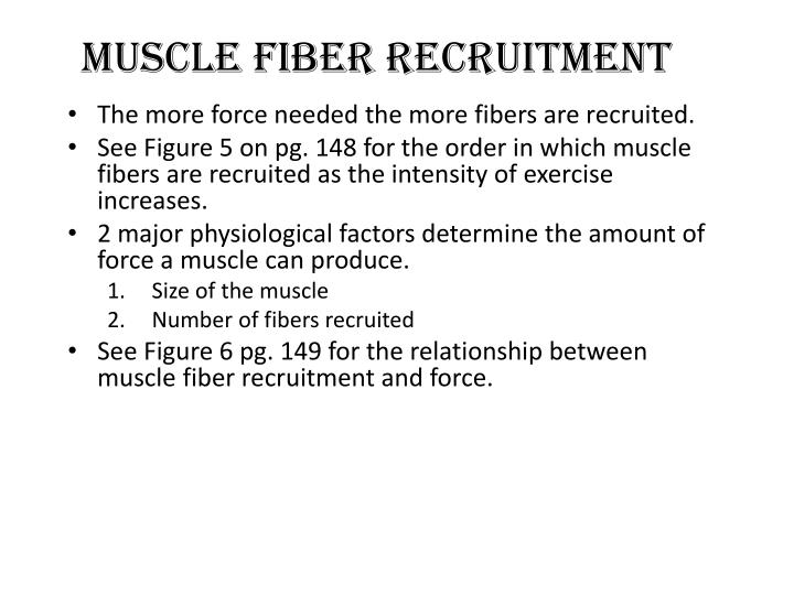 Muscle Fiber recruitment