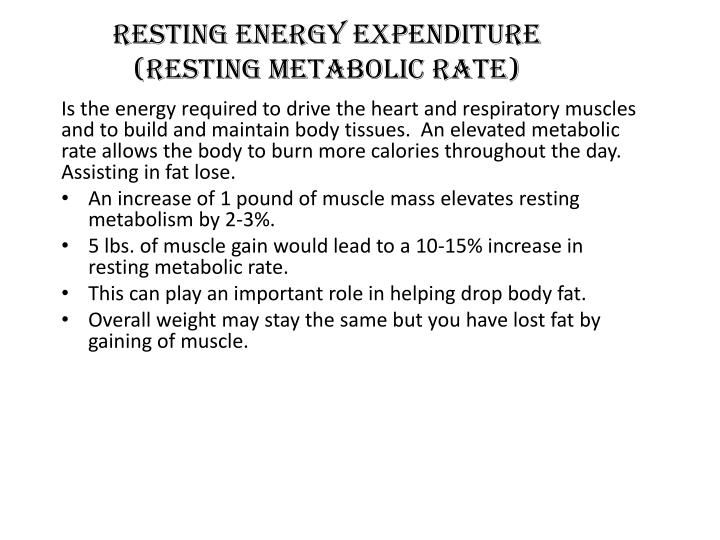 Resting Energy Expenditure (Resting Metabolic Rate)