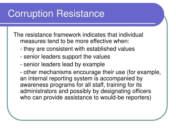 Corruption Resistance