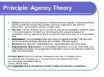principle agency theory