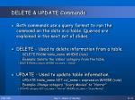 delete update commands