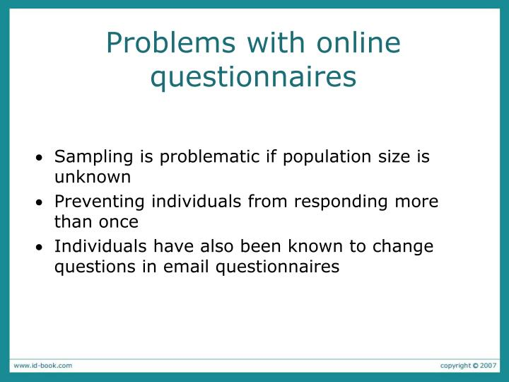 Problems with online questionnaires