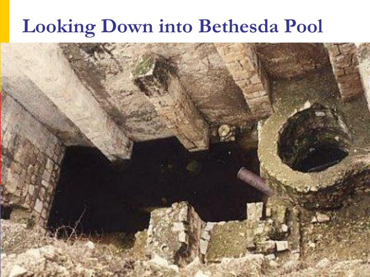 Looking Down into Bethesda Pool
