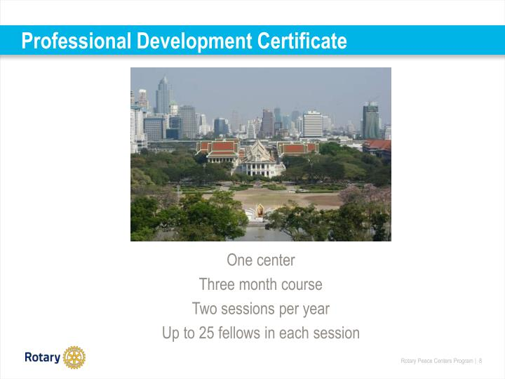Professional Development Certificate