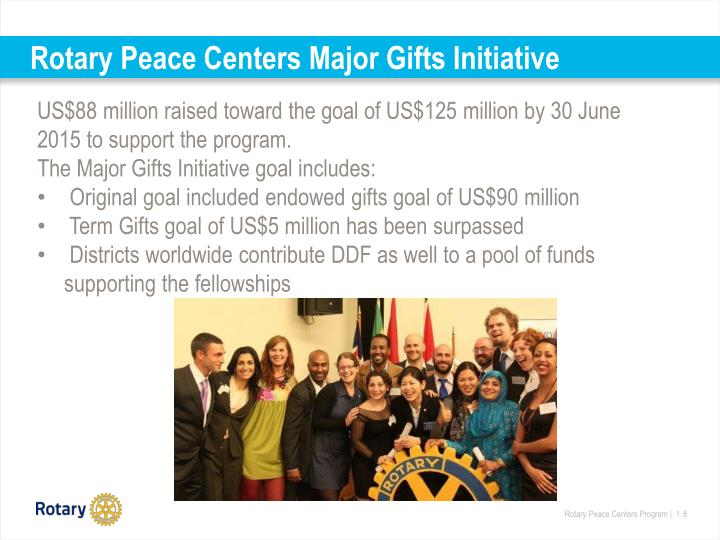 Rotary Peace Centers Major Gifts Initiative
