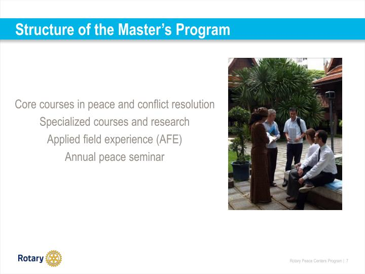 Structure of the Master's Program