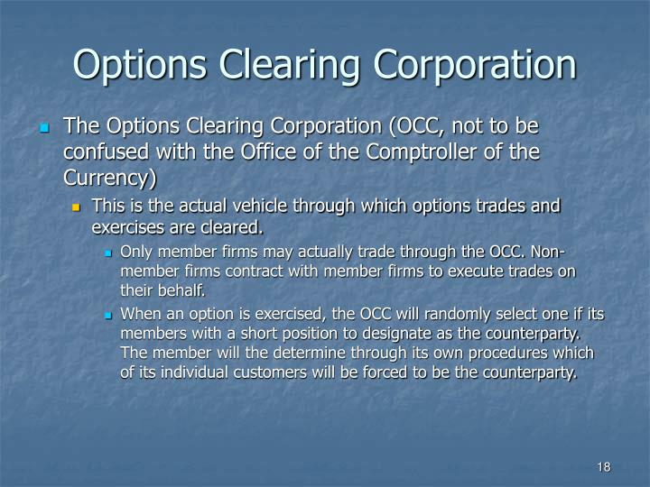 Options Clearing Corporation