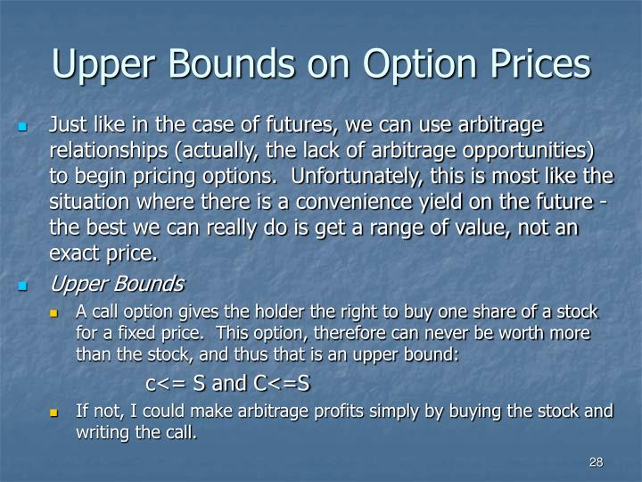 Upper Bounds on Option Prices