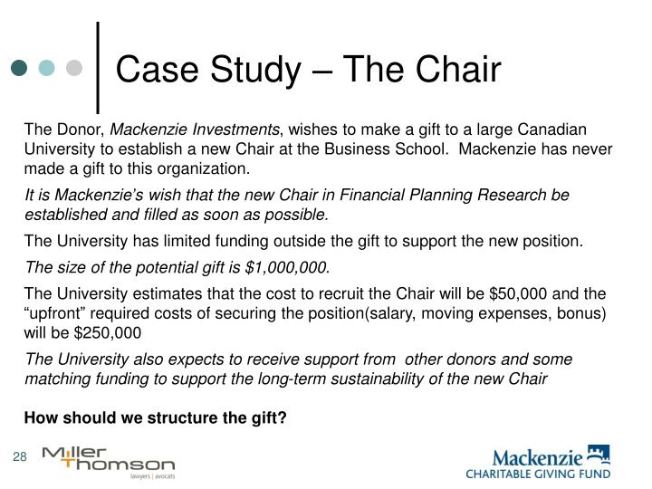 Case Study – The Chair