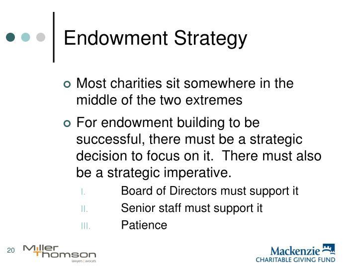 Endowment Strategy
