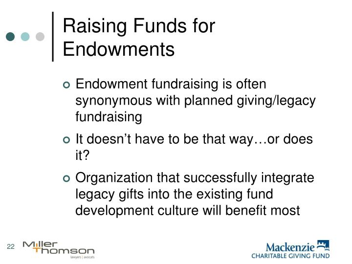 Raising Funds for Endowments