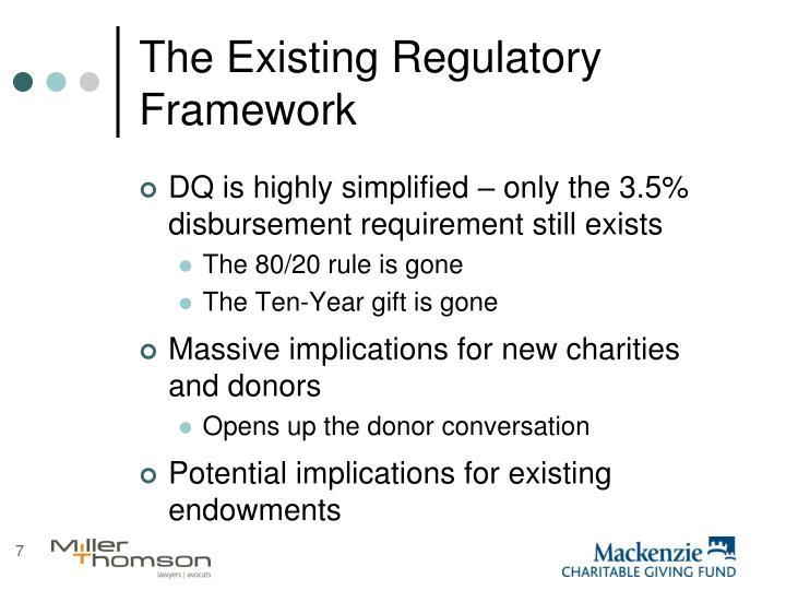 The Existing Regulatory Framework