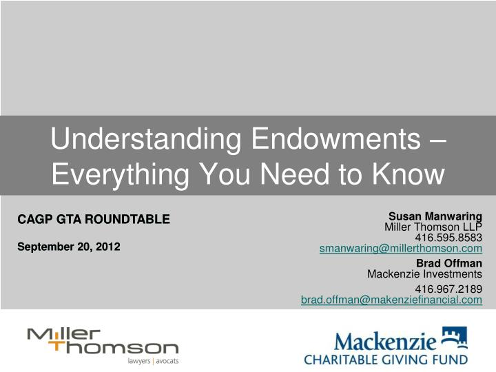 Understanding endowments everything you need to know