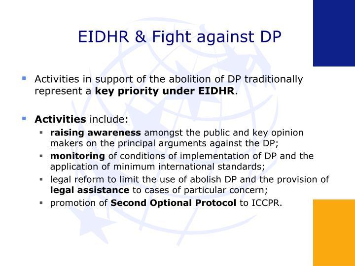 EIDHR & Fight against DP