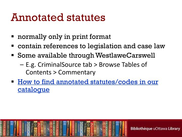 Annotated statutes