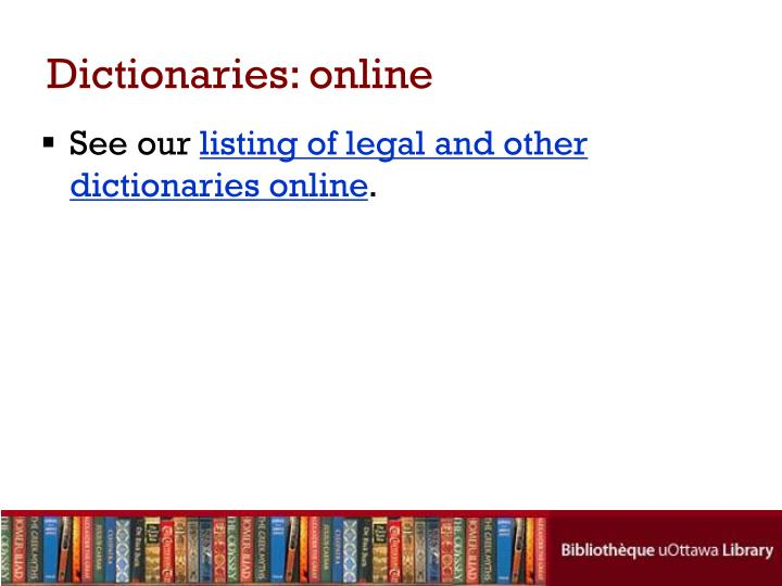 Dictionaries: online