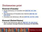 dictionaries print