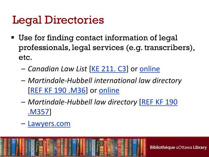 Legal Directories