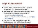 legal encyclopedias