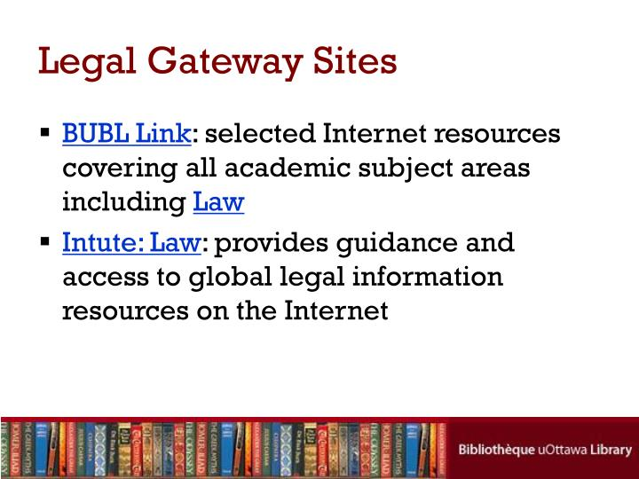Legal Gateway Sites