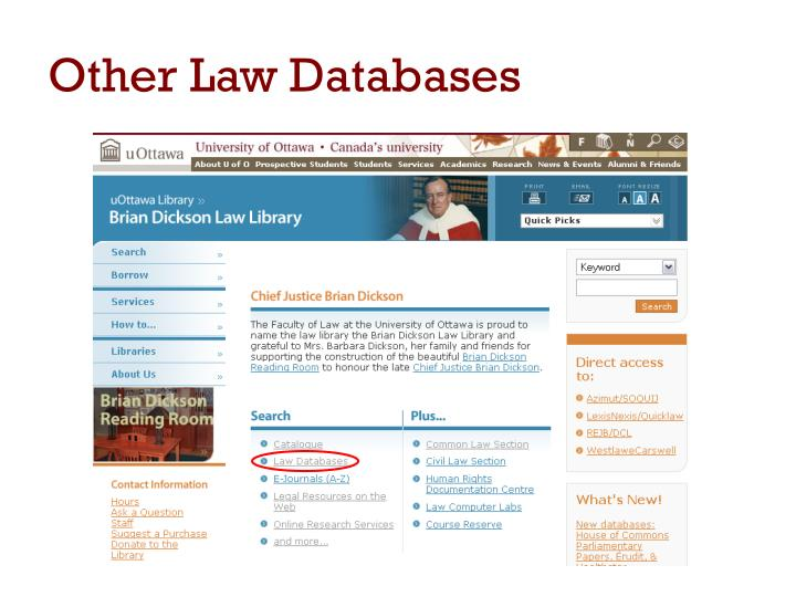 Other Law Databases