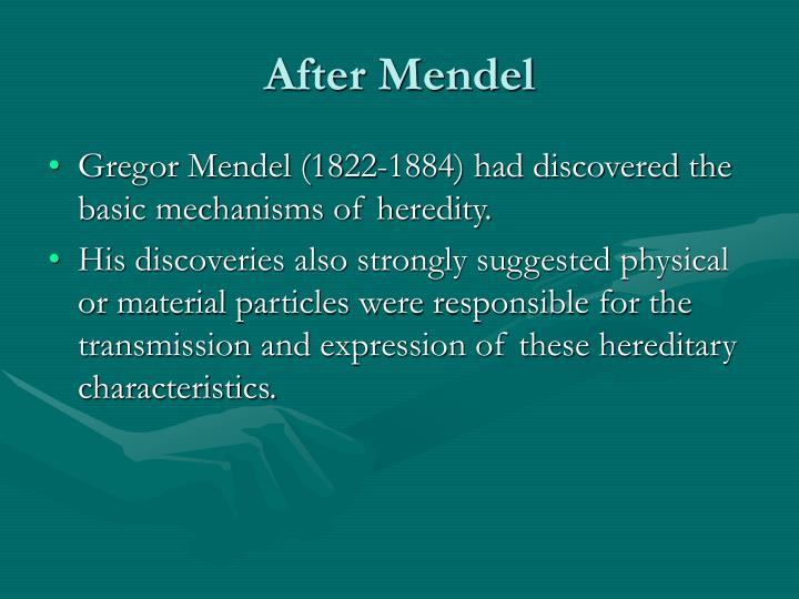 After Mendel