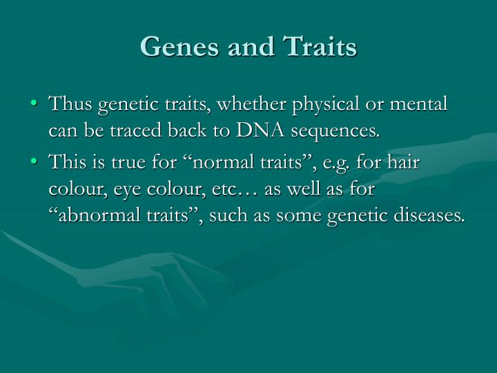 Genes and Traits
