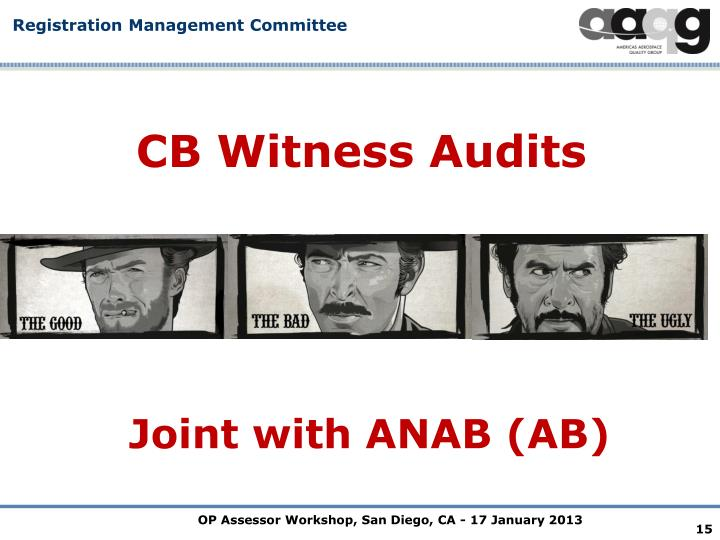 CB Witness Audits
