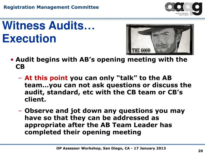 Witness Audits