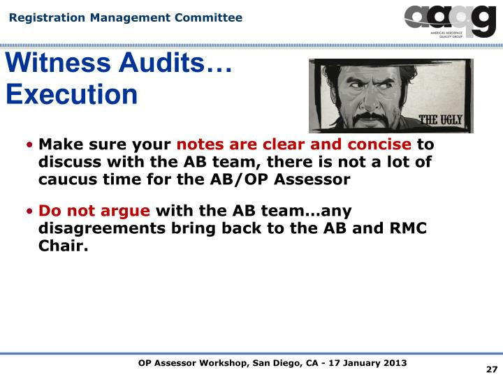 Witness Audits…