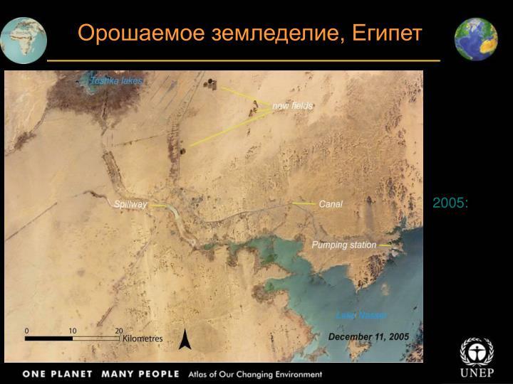 Орошаемое земледелие, Египет