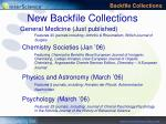 new backfile collections