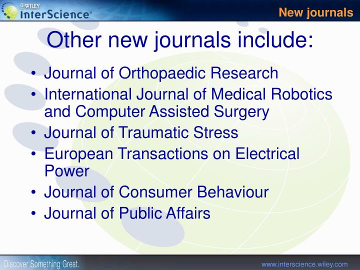 Journal of Orthopaedic Research