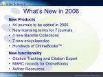 what s new in 2006