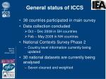 general status of iccs