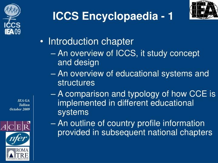 ICCS Encyclopaedia - 1