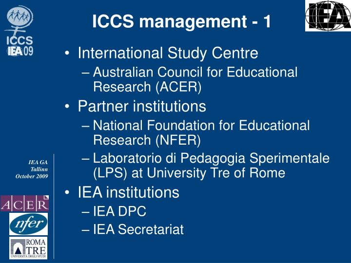 ICCS management - 1