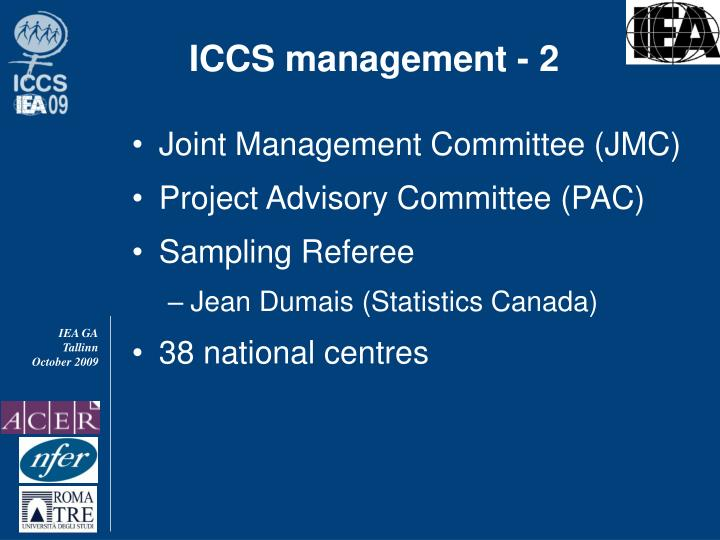ICCS management - 2