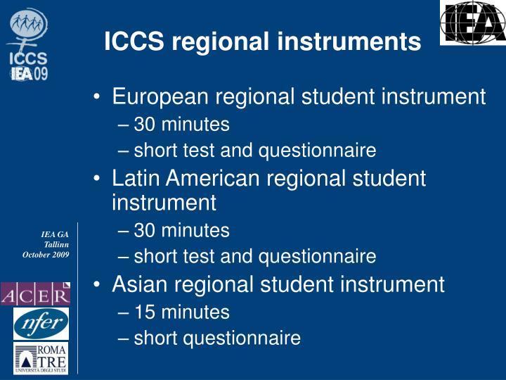ICCS regional instruments