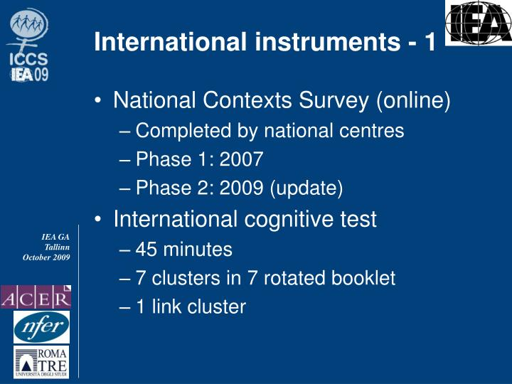 International instruments - 1