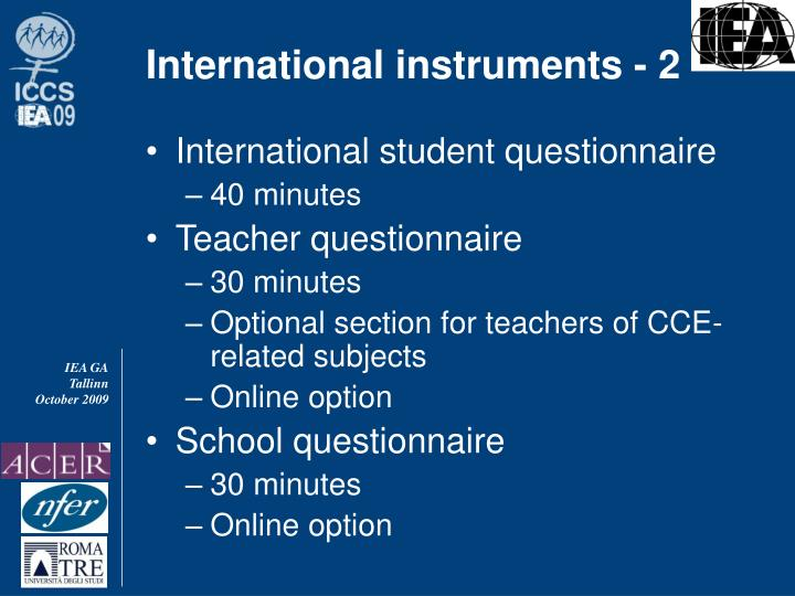 International instruments - 2
