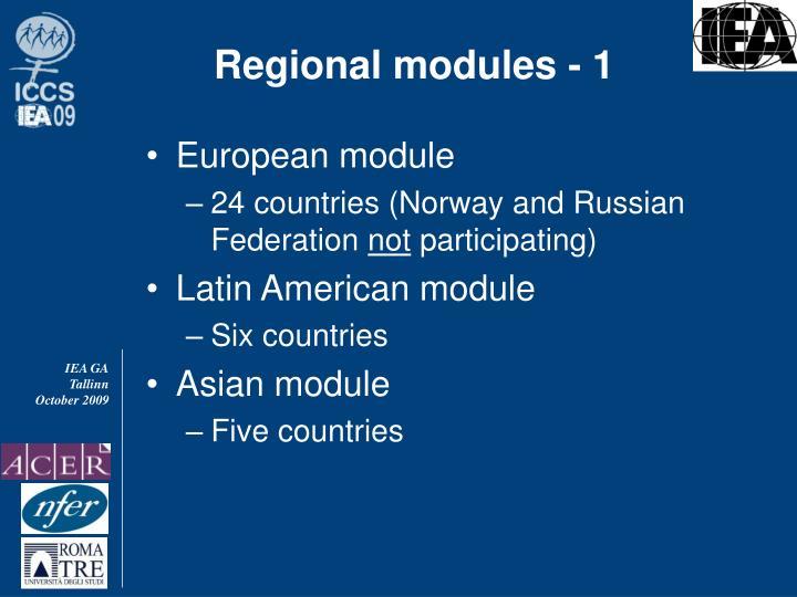Regional modules - 1