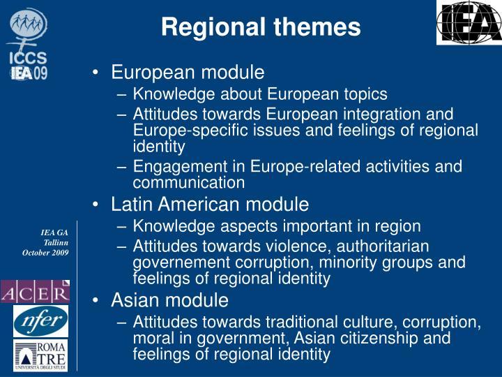 Regional themes