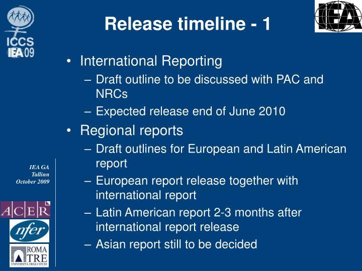Release timeline - 1