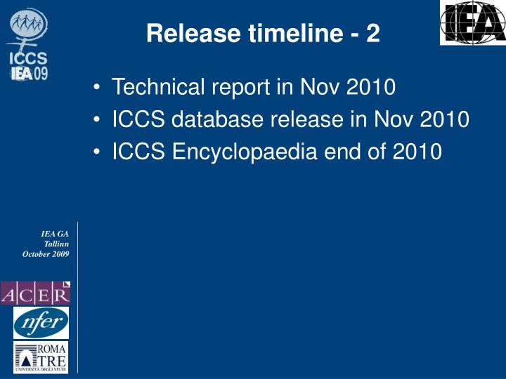 Release timeline - 2