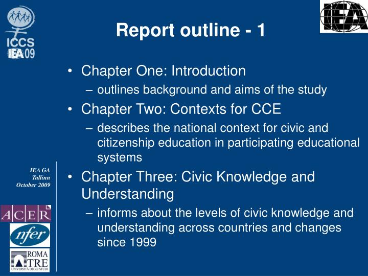 Report outline - 1