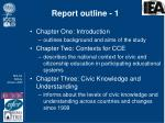 report outline 1