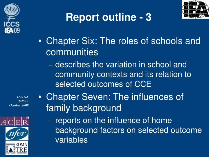 Report outline - 3